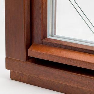 Houten raam Softline-68 Retro weerbar