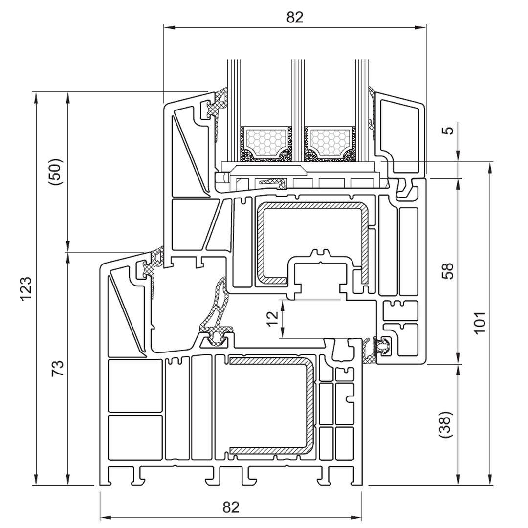 Bevorzugt Kunststoff Balkontür Brügmann bluEvolution 82 online kaufen BT06