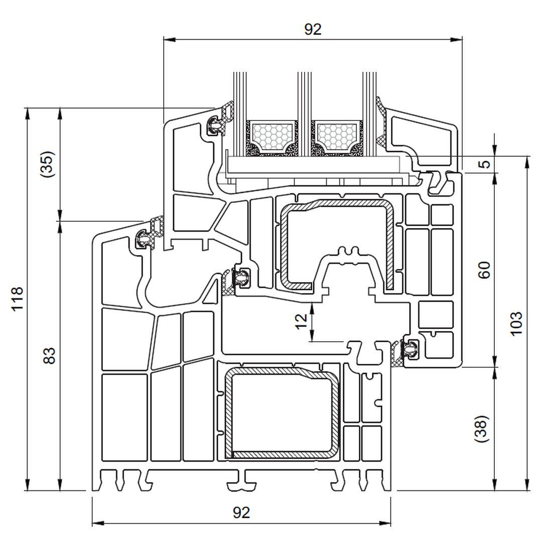 Favorit Kunststoff Balkontür Brügmann bluEvolution 92 - Salamander OF08