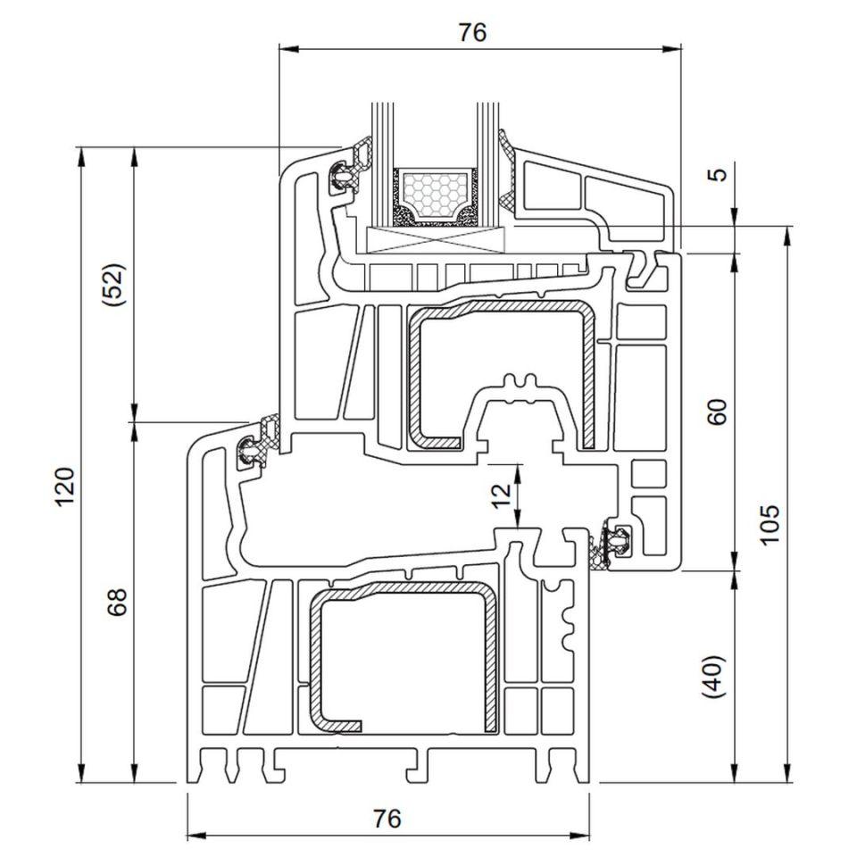 Gut gemocht Kunststoff Balkontür Salamander Streamline 76 günstig kaufen QL13