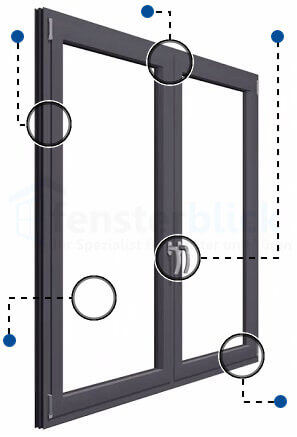Aluminiumfenster online kaufen | Preise + Info - fensterblick.de