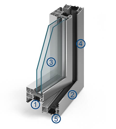 Aluminium fenster mb 70 online kaufen for Aluminium fenster
