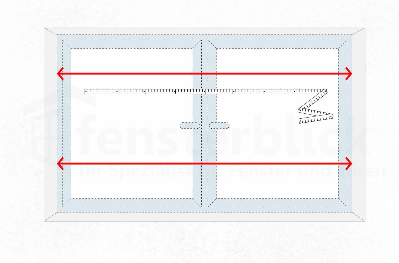 Turbo Fenster ausmessen - Wie nehme ich das Aufmaß beim Fenster RX82