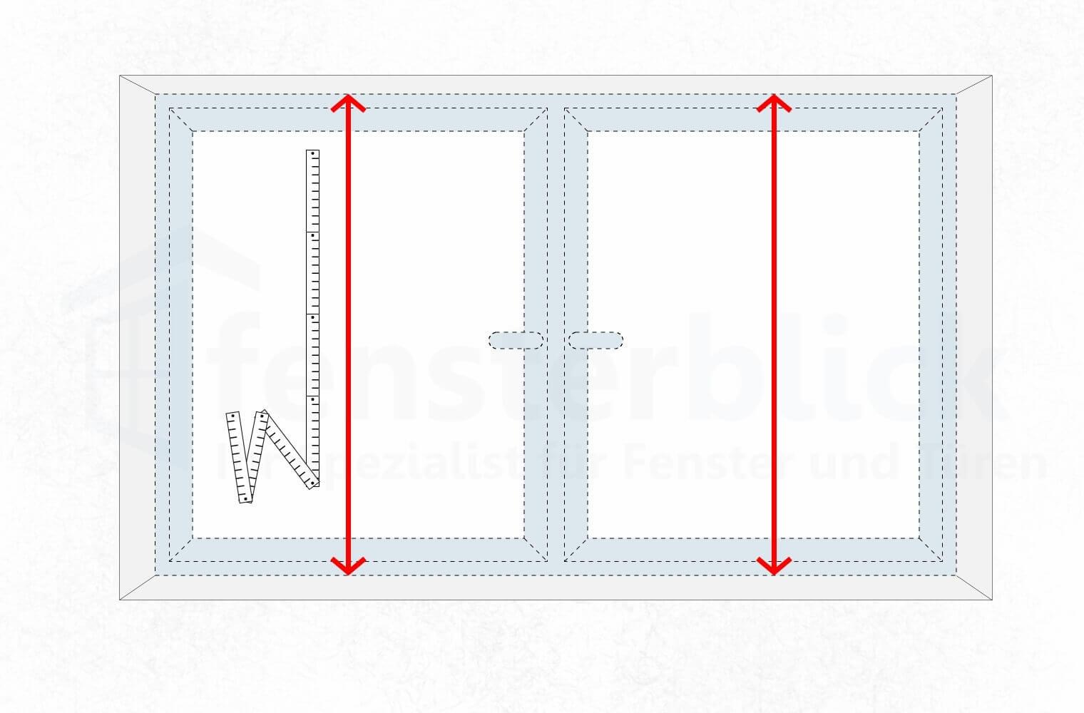 Super Fenster ausmessen - Wie nehme ich das Aufmaß beim Fenster UU33