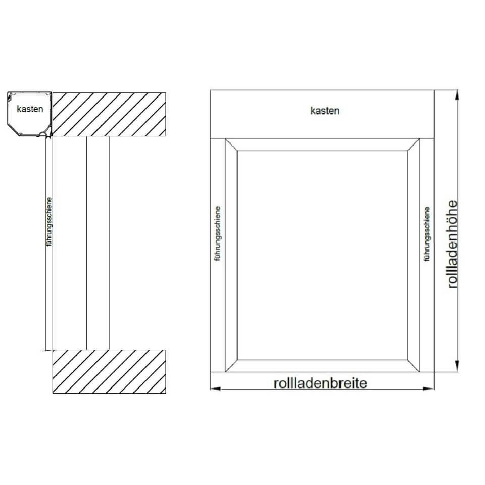 Favorit Detailzeichnungen Vorbaurollladen Drutex RA - fensterblick.de RU26