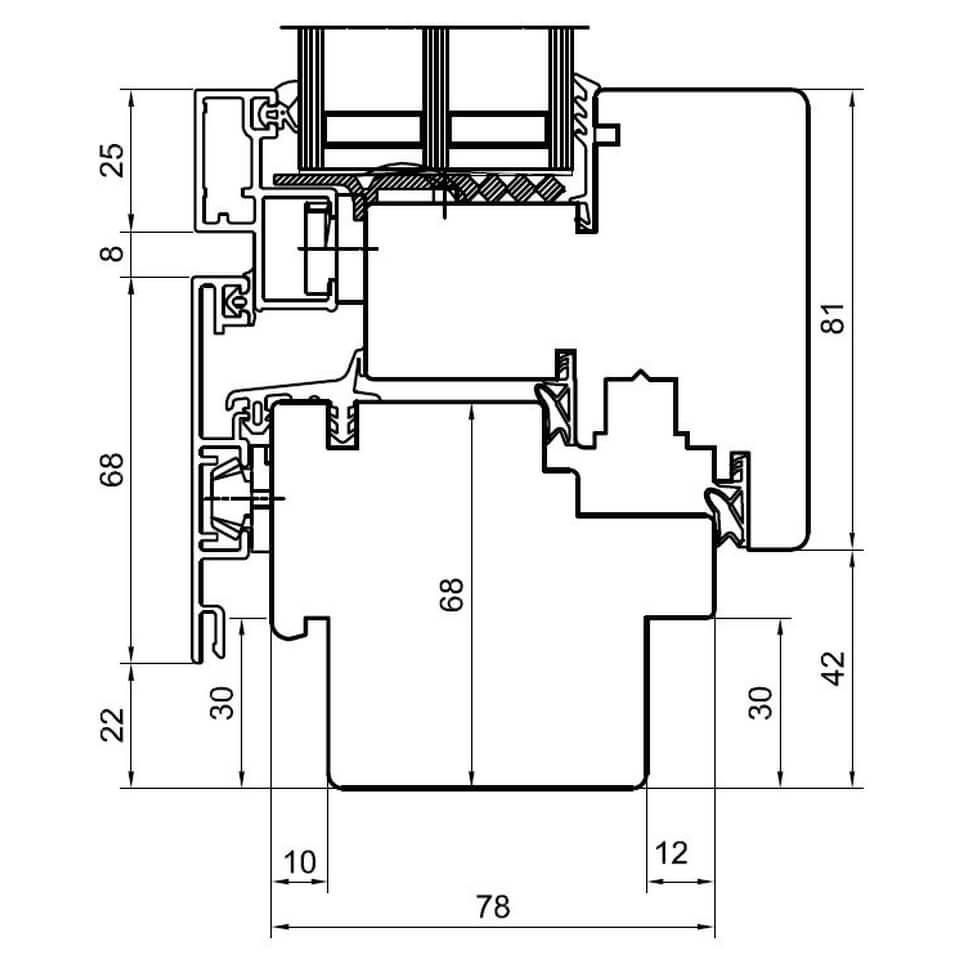 Detailzeichnungen Holz Alufenster Duoline 78 Fensterblick De