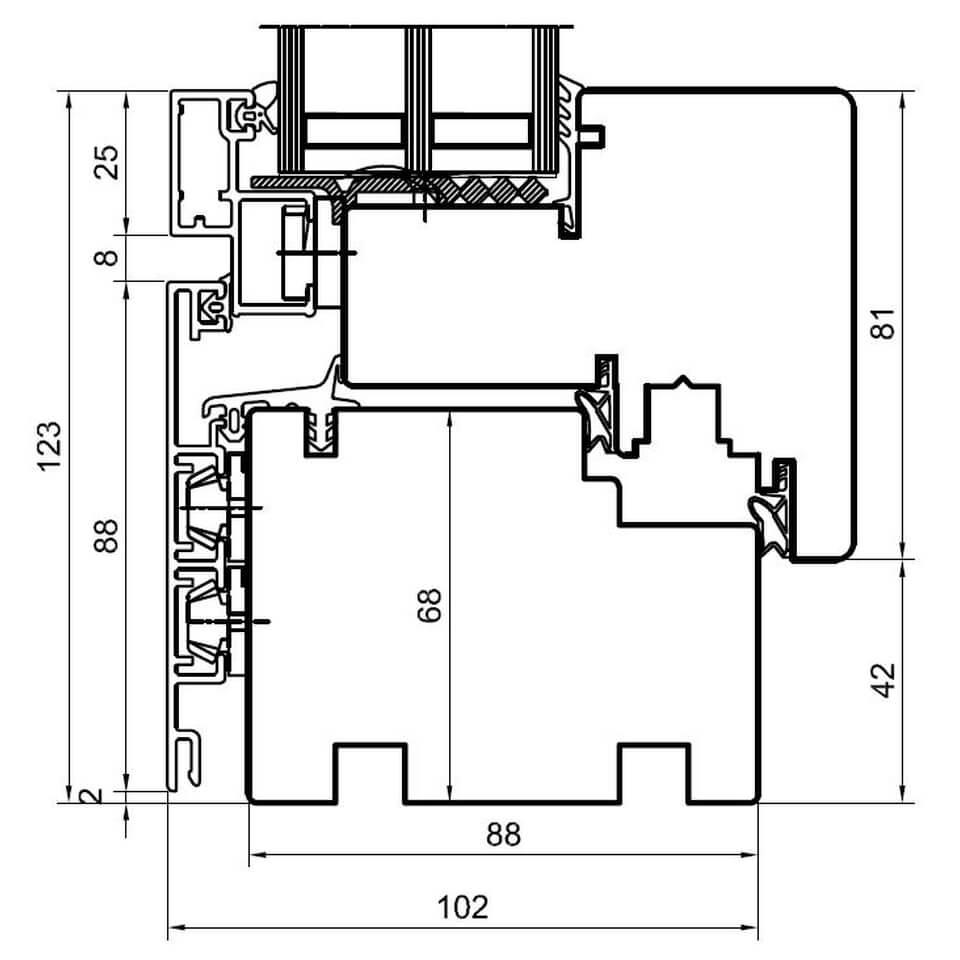 Detailzeichnungen Holz Alufenster Duoline 88 Fensterblick De