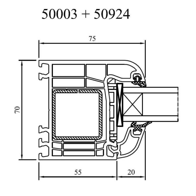 Rahmenverst rkung f r kunststoffprofile for Kunststofffenster konfigurieren