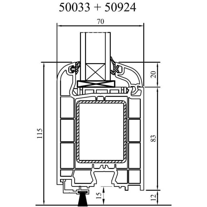 detailzeichnungen kunststofffenster iglo 5. Black Bedroom Furniture Sets. Home Design Ideas