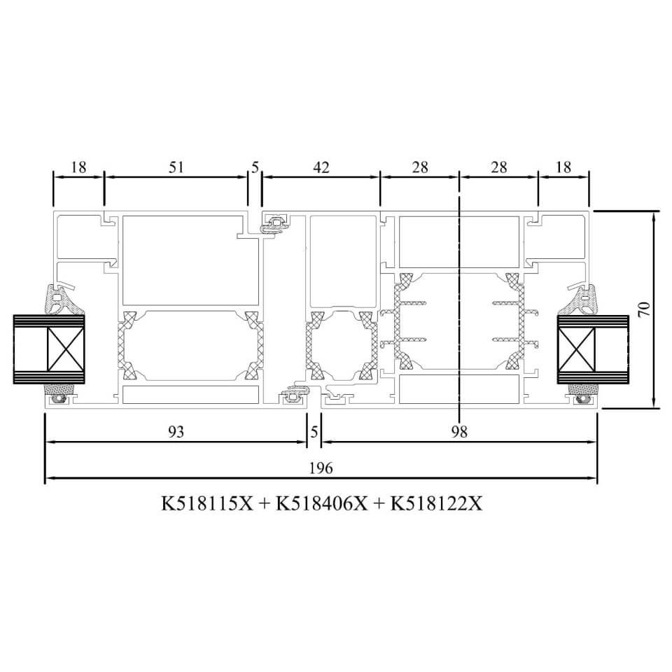 Favorit Detailzeichnungen Aluminiumfenster MB-70 - fensterblick.de DC32