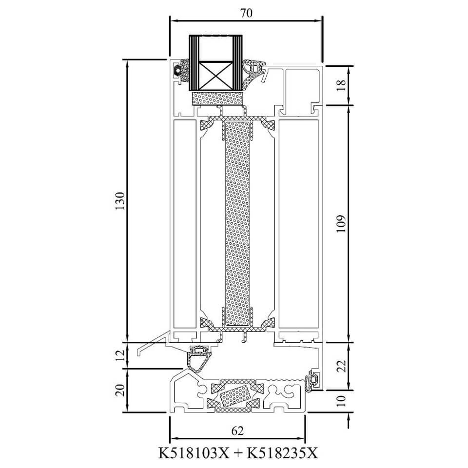 detailzeichnungen aluminiumfenster mb 70hi. Black Bedroom Furniture Sets. Home Design Ideas