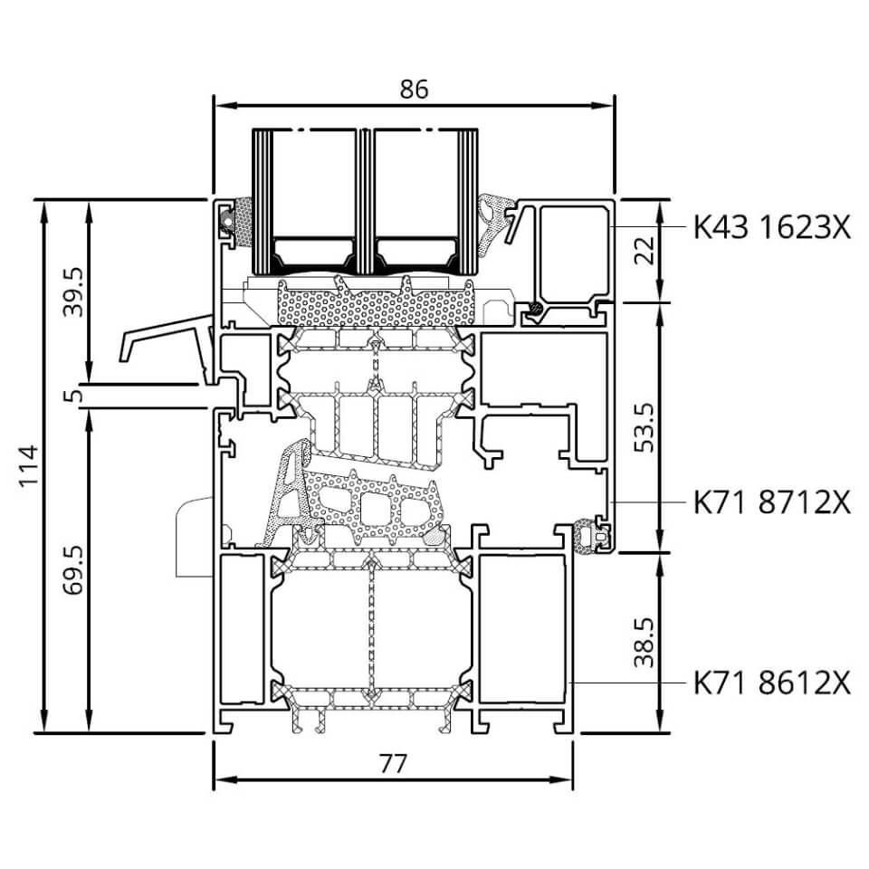 Detailzeichnungen Aluminiumfenster Mb 86 Si Fensterblick De