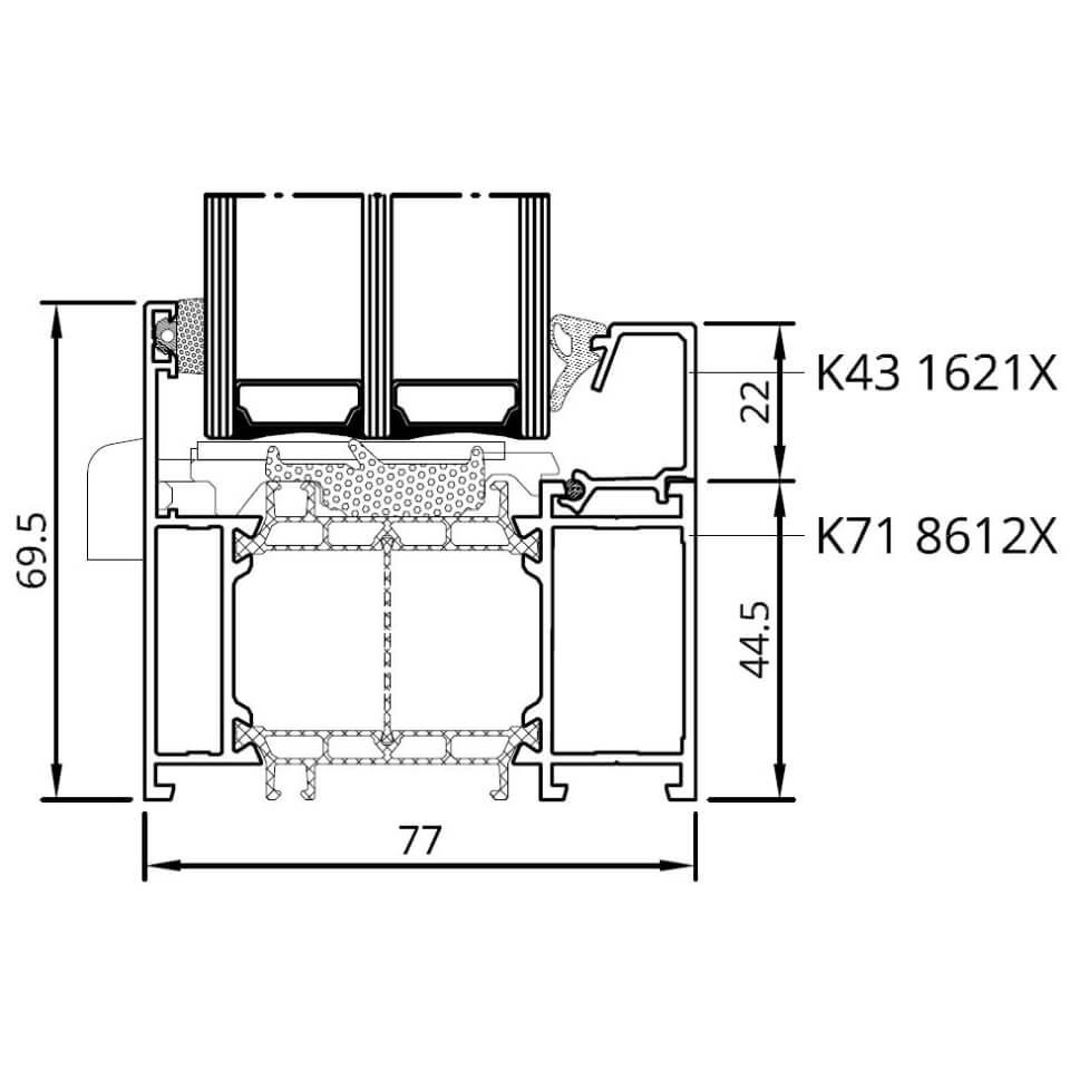 detailzeichnungen aluminiumfenster mb 86 si. Black Bedroom Furniture Sets. Home Design Ideas