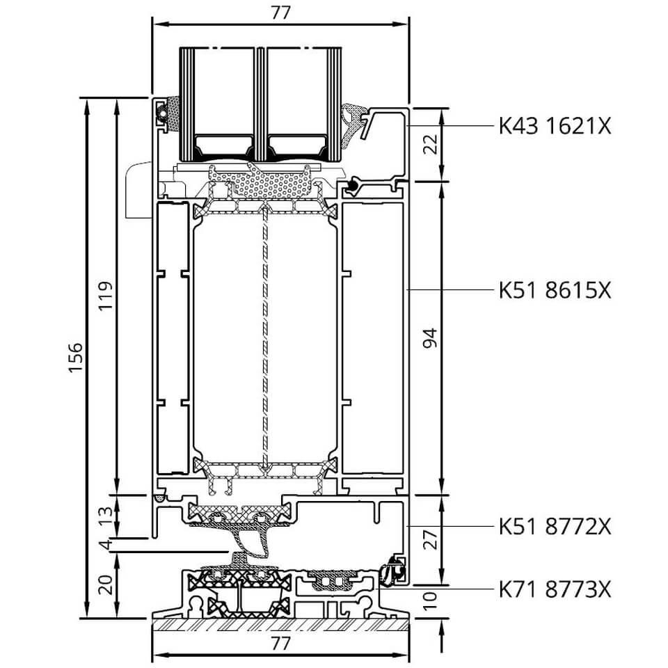 alu haustür magdeburg modell 15 - drutex türen online kaufen