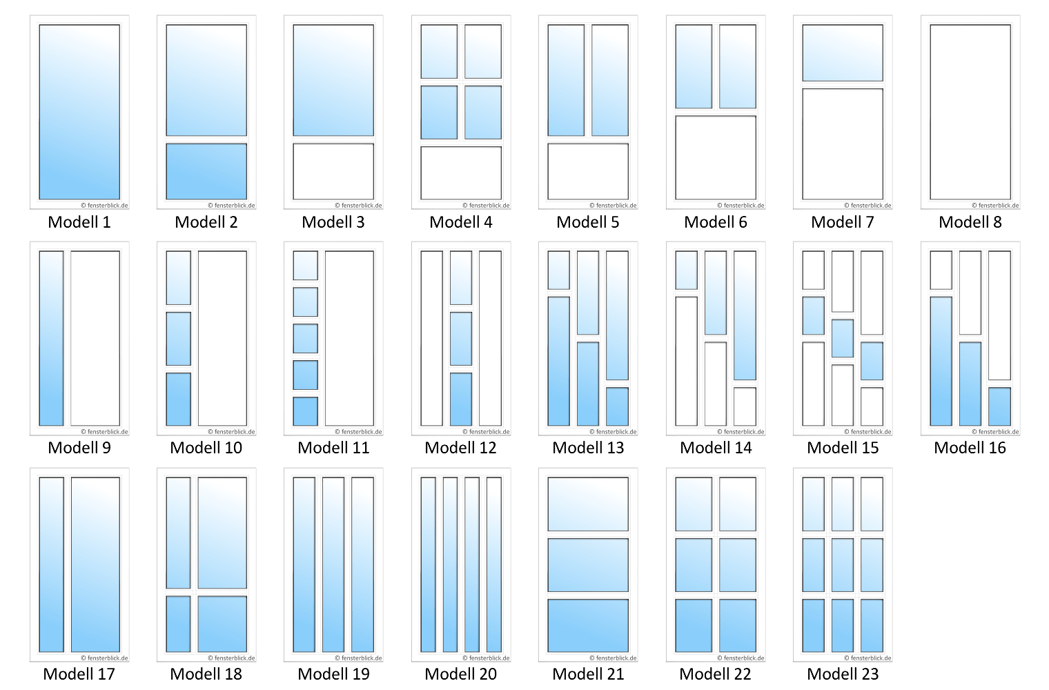 Extrem Nebeneingangstüren Farben: Große Auswahl - fensterblick.de DU16