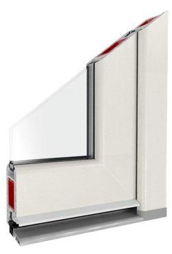 Kunststof deurprofiel uitsparing wit