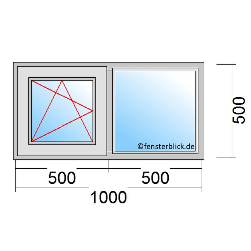 Hervorragend Fenster 100x50 cm zu günstigen Preisen - fensterblick.de DC65