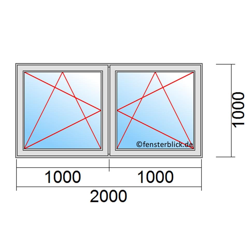 Häufig Fenster 200x100cm zu günstigen Preisen - fensterblick.de FZ55