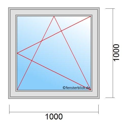 Fenster 100x100 cm zu g nstigen preisen for Fenster 100x100