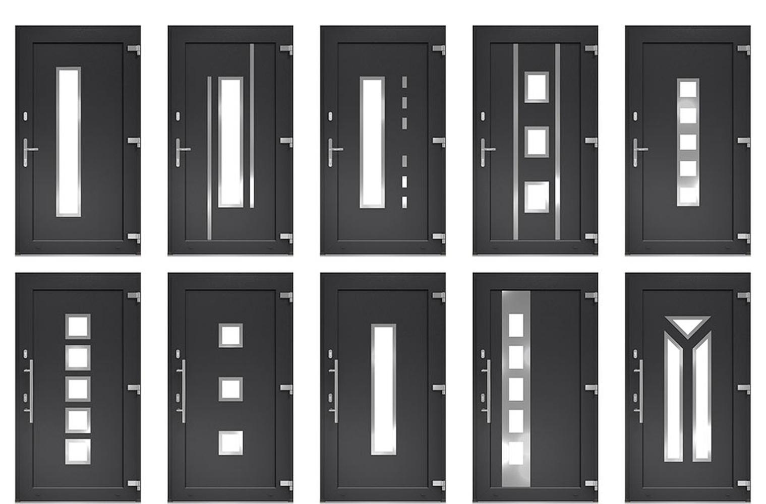 Haustur Mit Fenster Integrierter Glaseinsatz Seitenteile Und Oberlichter Fensterblick De