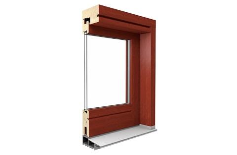 Profilschnitt Holz HS-Tür in Kiefer-Mahagoni