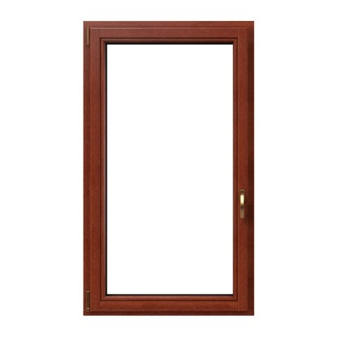 Holzfenster Softline 1-flg. Teak