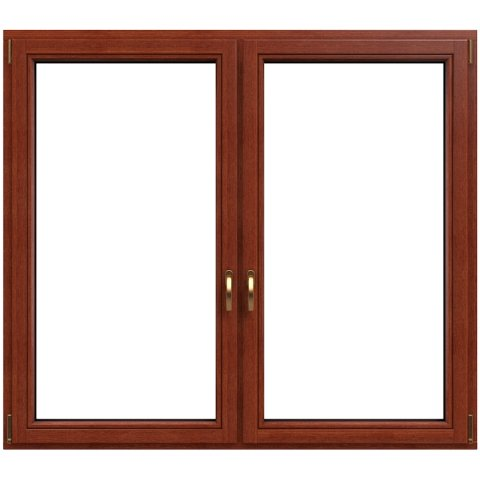 Holzfenster Softline 2-flg. Teak