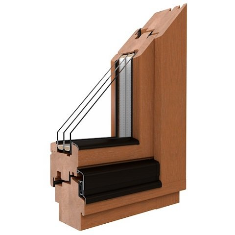 Holzfenster Softline-68 Profil