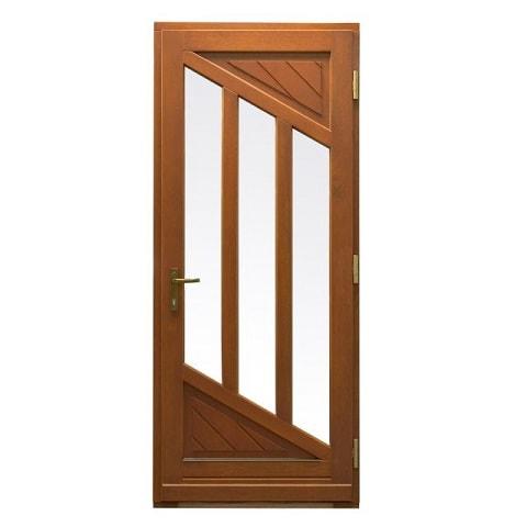 Holz Haustür Mit 3 Glasausschnitten