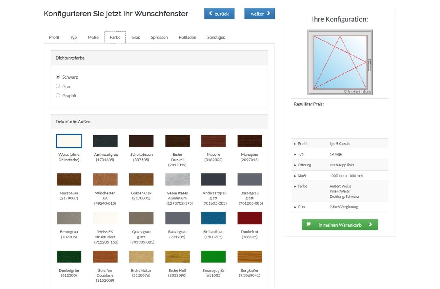 Fensterkonfigurator polen  Günstige Kunststoffenster | einfach online kaufen - fensterblick.de