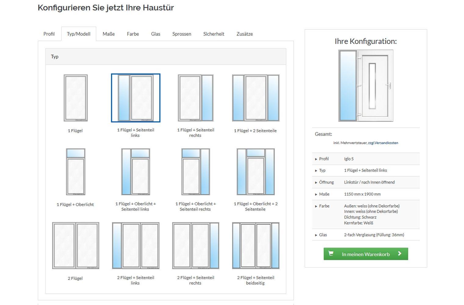 Häufig Haustüren Preise und Kosten online berechnen - fensterblick.de JR01