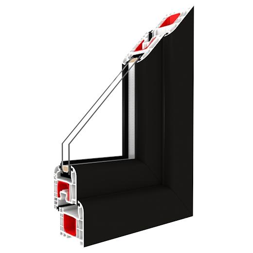 kunststofffenster schwarz kaufen optischer hingucker. Black Bedroom Furniture Sets. Home Design Ideas