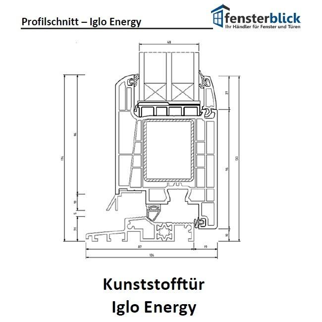 Kunststoff tür  Iglo Energy Kunststofftür online kaufen - fensterblick.de