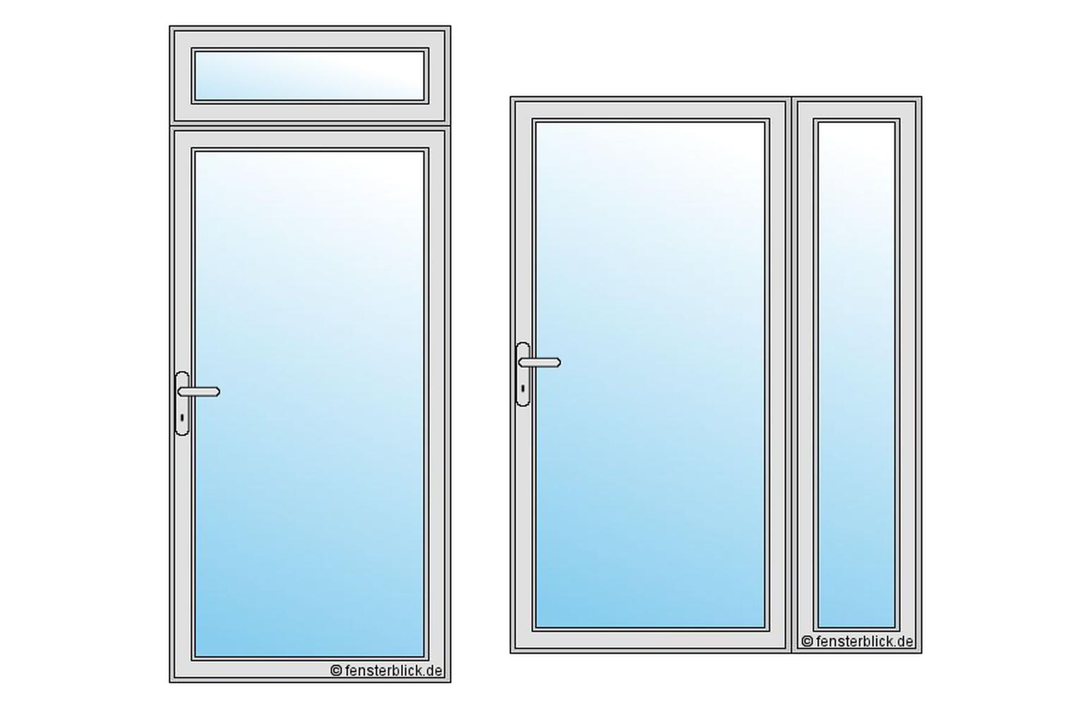 Bevorzugt Haustüren mit Glas - Wunderschöne Glasfüllungen - fensterblick.de CV23