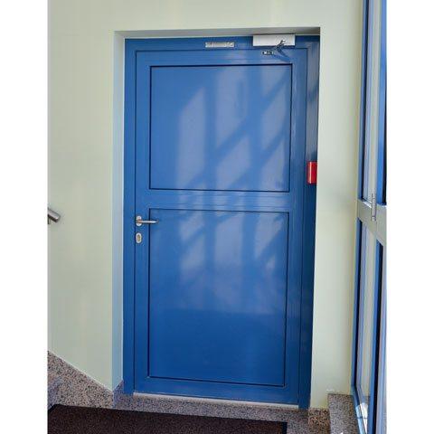Feuerschutztür Aus Aluminium In Blau