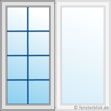 Sprossenfenster typ 10 wei 26mm t sprosse 1 flg dreh kipp kunststofffenster - Sprossenfenster innenliegende sprossen ...