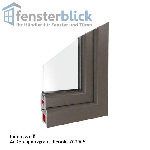 fenster quarzgrau dreh kipp kunststofffenster