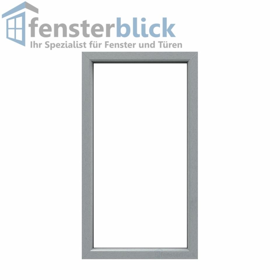 Fenster Grau (beidseitig) Festverglasung - Balkonfenster Fest im ...