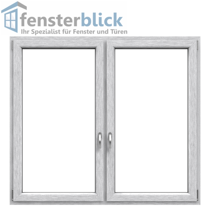 fenster geb rstetes aluminium beidseitig 2 flg dk dk fenster mit pfosten ebay. Black Bedroom Furniture Sets. Home Design Ideas