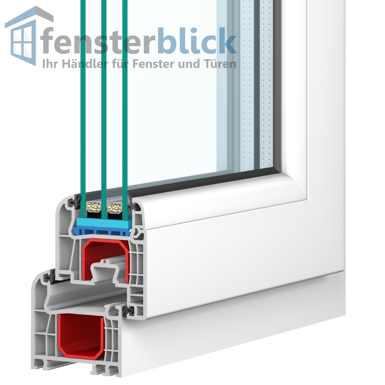 Sprossenfenster kunststoff anthrazit  Fenster Anthrazit Glatt - 1 flg. Dreh Kipp - Kunststofffenster ...