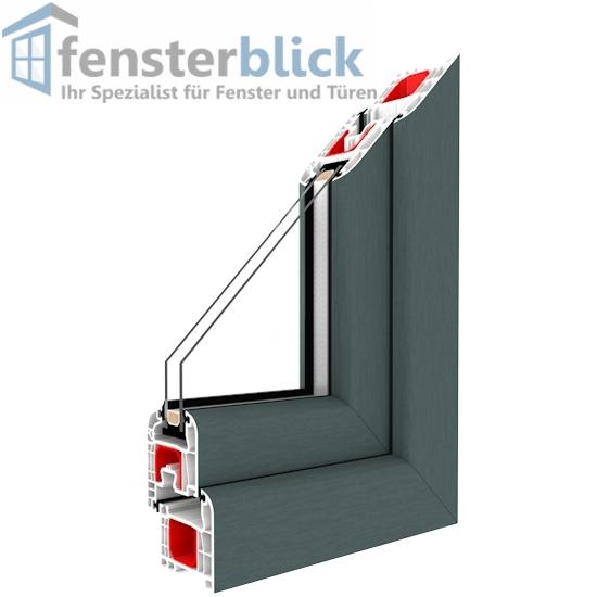 fenster basaltgrau innen und au en 1 flg dreh kipp kunststofffenster ebay. Black Bedroom Furniture Sets. Home Design Ideas