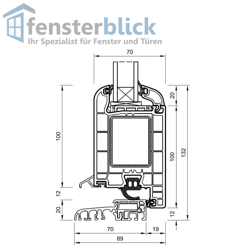 Haustür Schwarzbraun Drutex Modell 2 - 1 flg. Kunststoff Kunststoff Kunststoff Hauseingangstür c3bca6